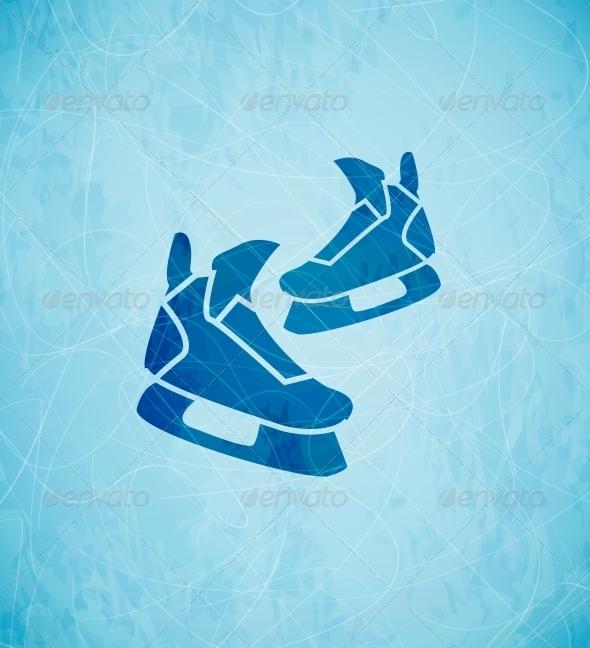 Vector Skates Background - Backgrounds Decorative
