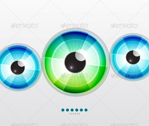 Abstract Techno Eye - Vector Illustration - Backgrounds Decorative