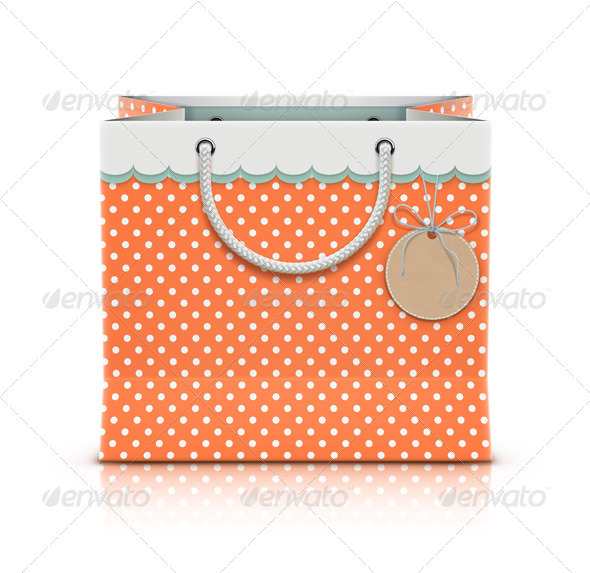 Retro Paper Shopping Bag  - Commercial / Shopping Conceptual