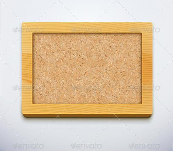 Blank Cork Bulletin Board  - Man-made Objects Objects