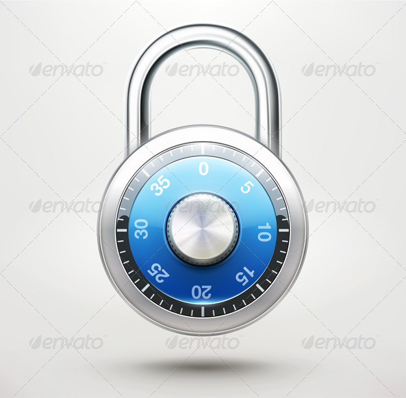 Combination Padlock - Man-made Objects Objects