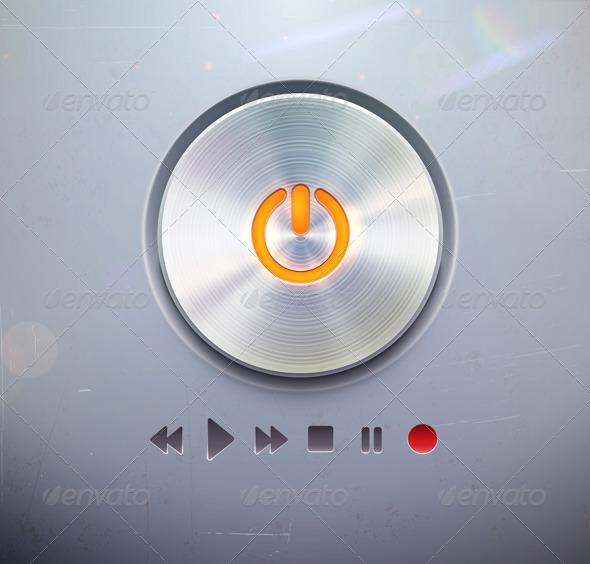 Round Power Button - Web Elements Vectors