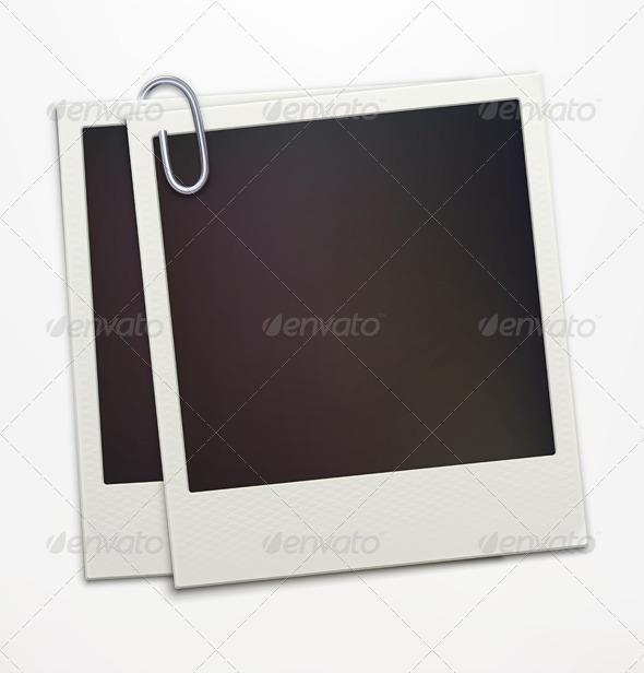Retro Polaroid Photo Frames  - Man-made Objects Objects