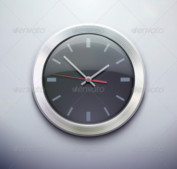 Clock Icon  - Man-made Objects Objects