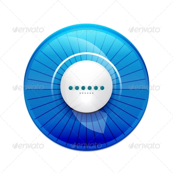 Blue Glossy Control Panel - Web Elements Vectors