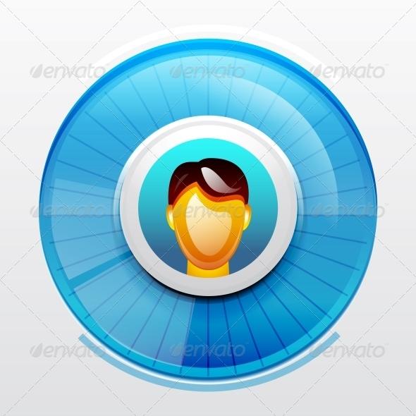 Blue User Pic Icon - Web Elements Vectors