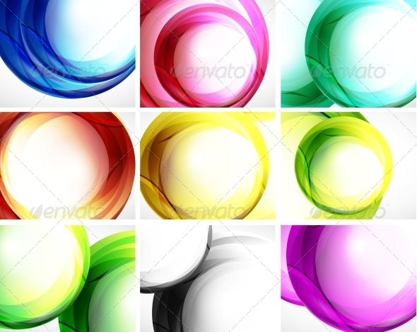 Set of Swirl Backgrounds - Backgrounds Decorative