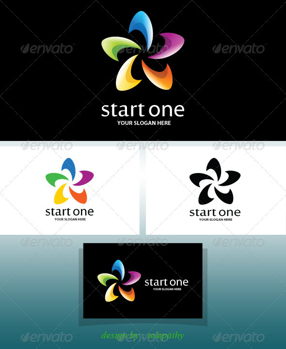 StartOne cheerful logo - Symbols Logo Templates