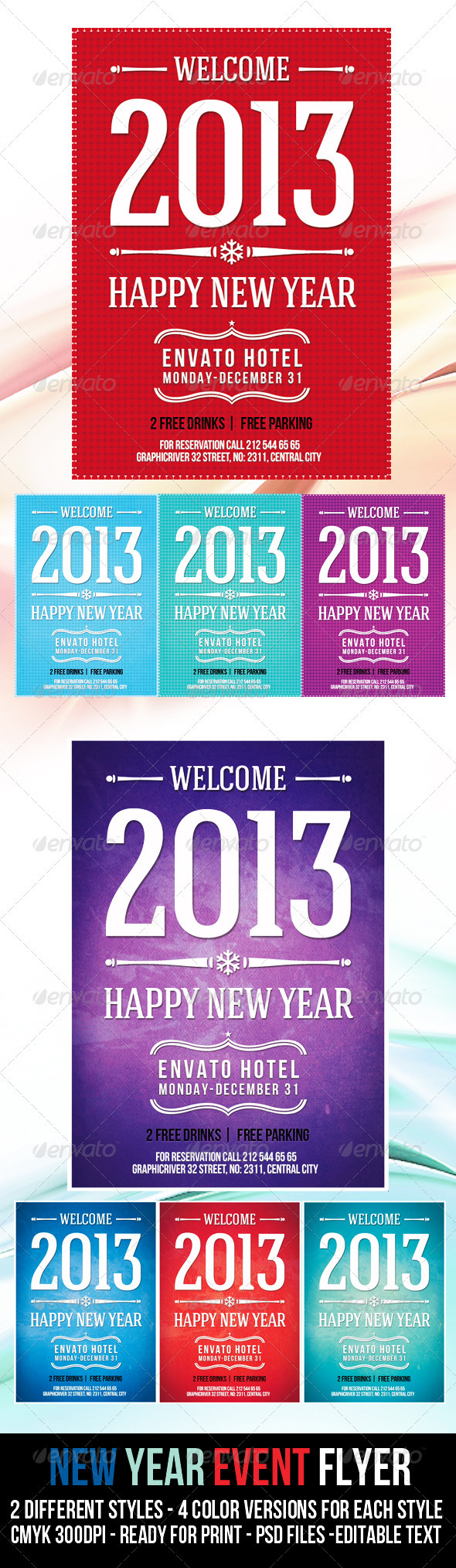 New Year Event Flyer  - Events Flyers