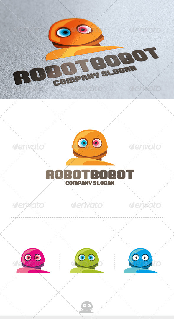 Robot Bobot Logo - Vector Abstract