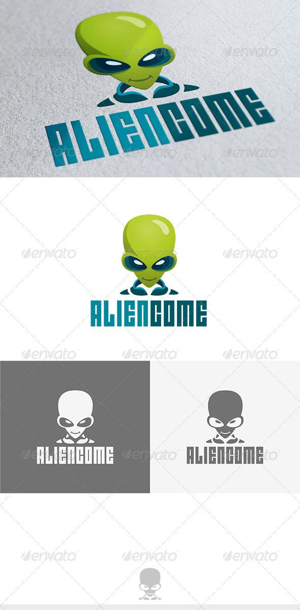 Alien Come Logo - Vector Abstract