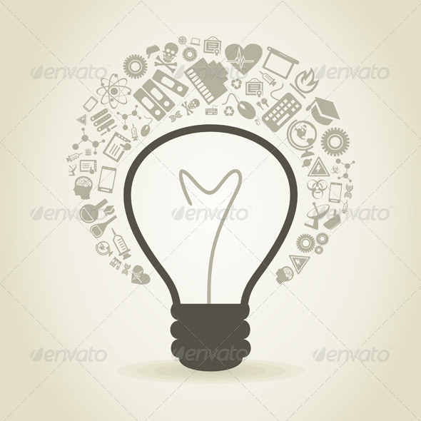Science Bulb - Man-made Objects Objects