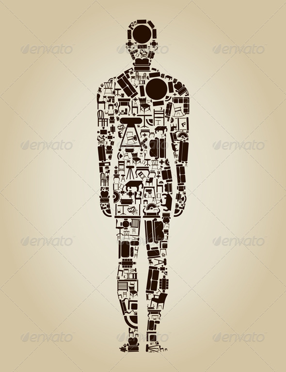 Person Made of Furniture - Industries Business