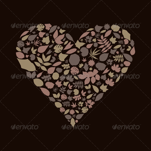 Leaf Heart - Valentines Seasons/Holidays