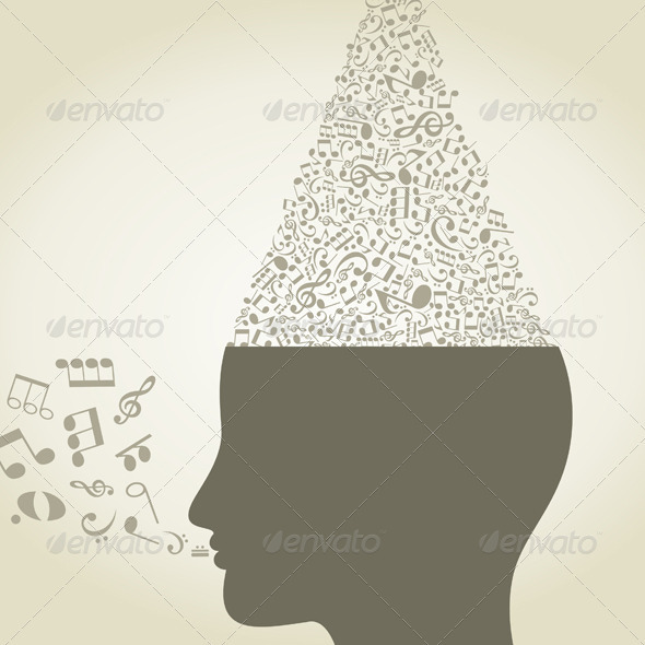 Musical Head - Sports/Activity Conceptual