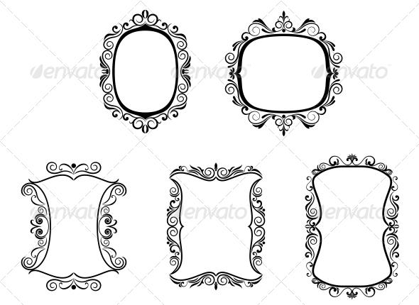 Set of Vintage Frames - Borders Decorative
