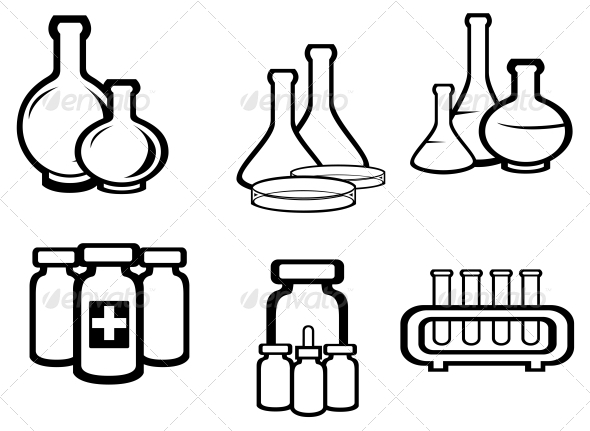 Science and Medical Flasks - Health/Medicine Conceptual