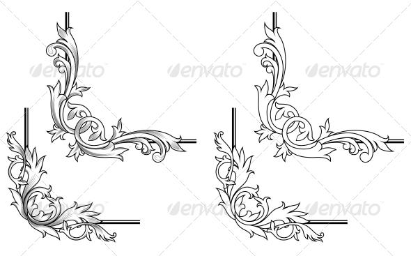 Swirl Elements - Borders Decorative