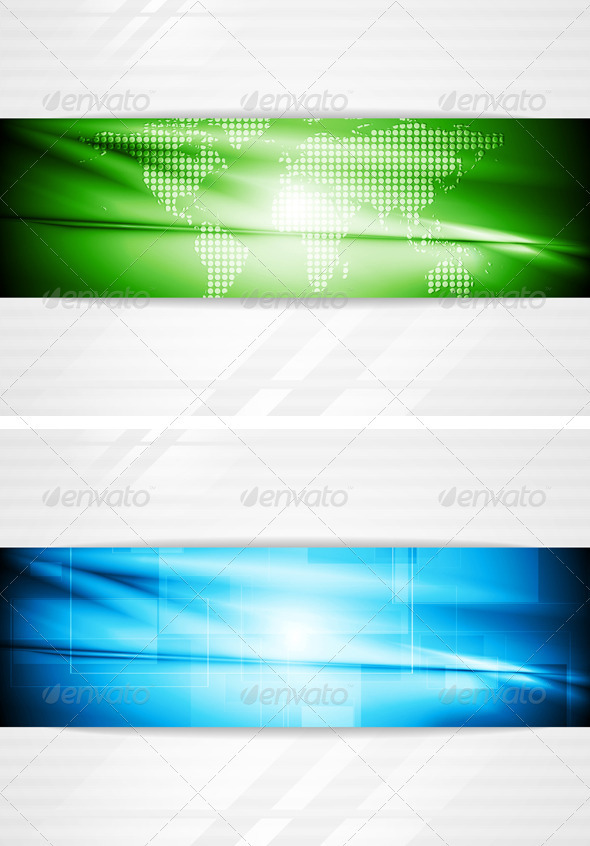 Modern Tech Business Design - Backgrounds Decorative