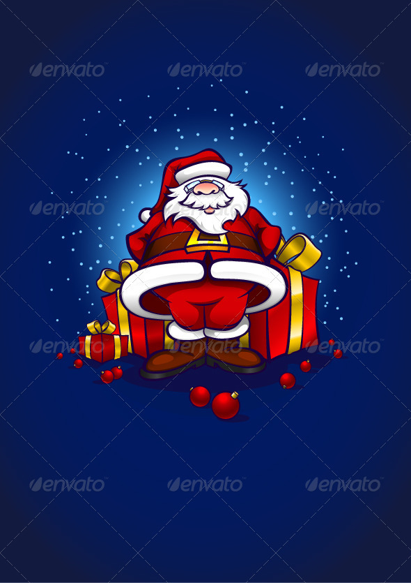 Santa Claus With Gifts - Christmas Seasons/Holidays