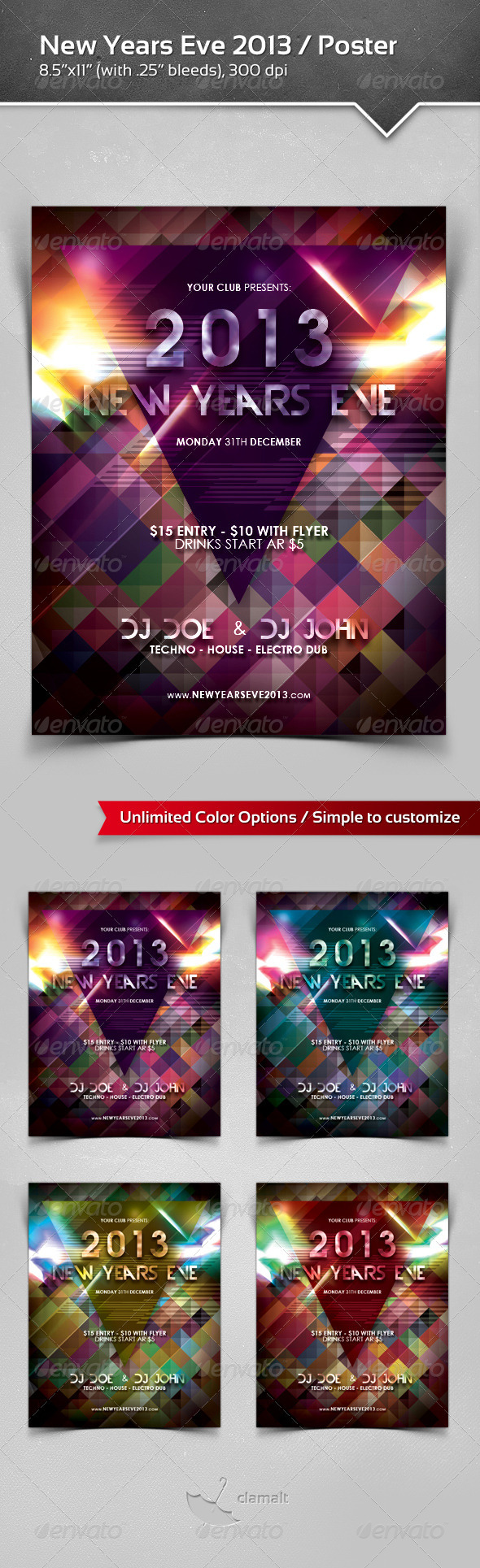 New Years Eve 2013 Poster - Flyers Print Templates