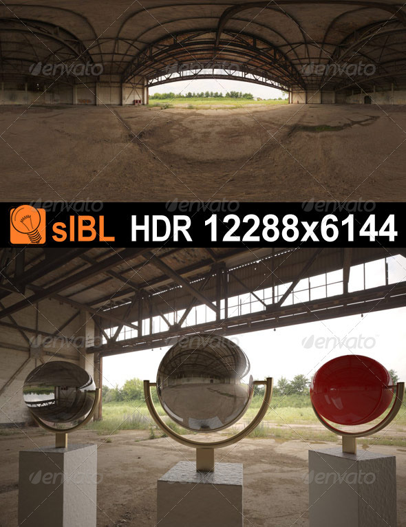 HDR 077 Old Hangar sIBL - 3DOcean Item for Sale