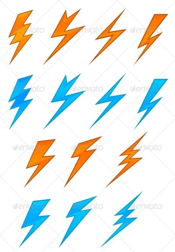 Lightning Symbols - Decorative Symbols Decorative