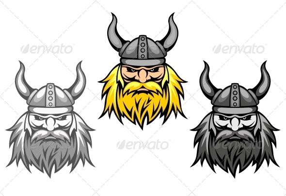 Aggressive Viking Warriors - People Characters