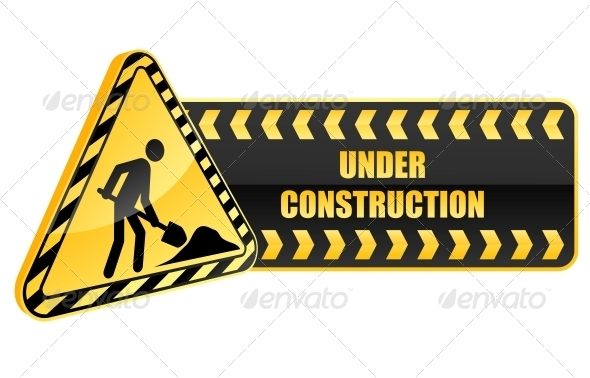 Under Construction Icon and Warning Sign - Decorative Symbols Decorative