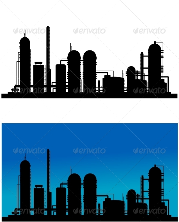 Chemical or Refinery Plant - Buildings Objects