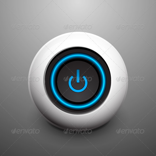 Vector Power Button - Technology Conceptual