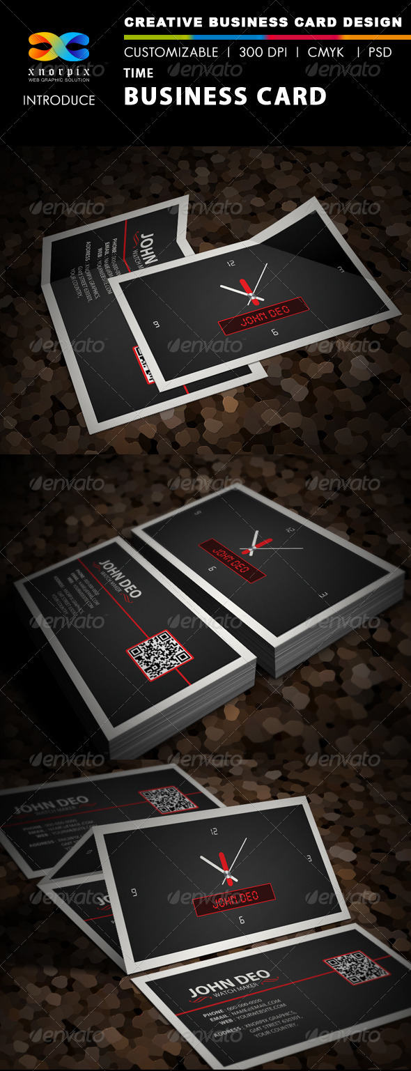 Time Business Card - Creative Business Cards