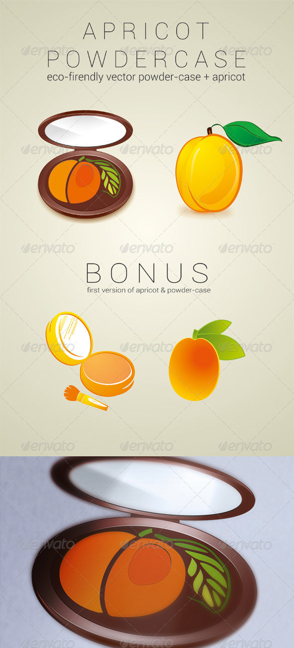Apricot Powder Case - Health/Medicine Conceptual