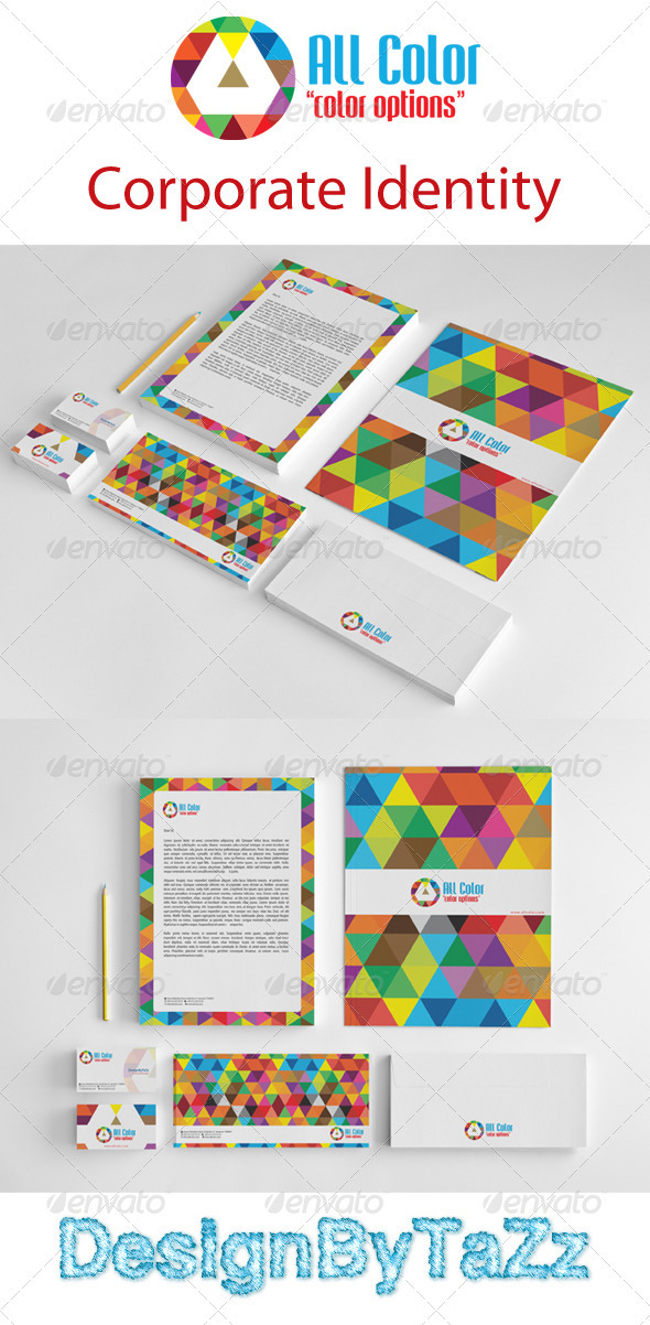 All Colors Corporate Identity Package - Stationery Print Templates
