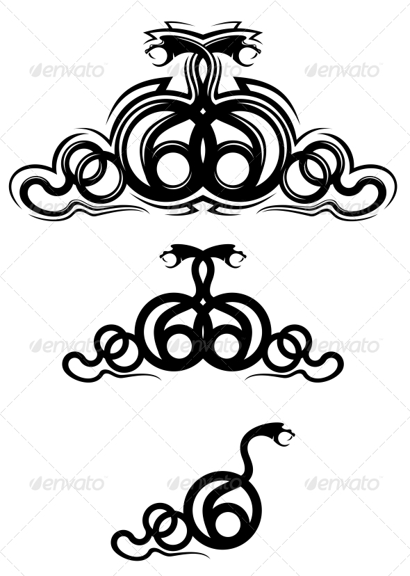 Snake Tattoos - Tattoos Vectors