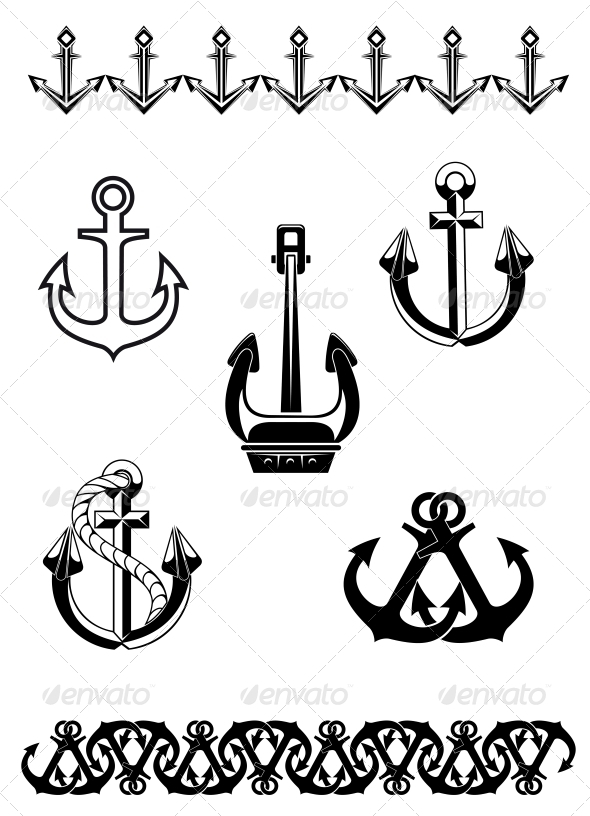 Set of Anchor Symbols - Man-made Objects Objects