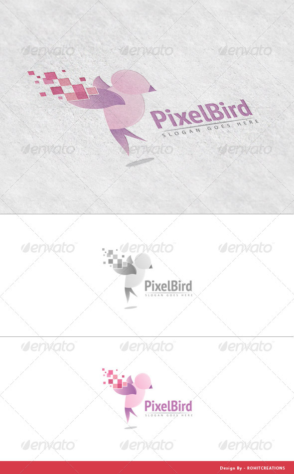 PixelBird - Logo Template for Design Studios - Logo Templates