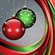 Christmas Card with Red and Green Balls - GraphicRiver Item for Sale