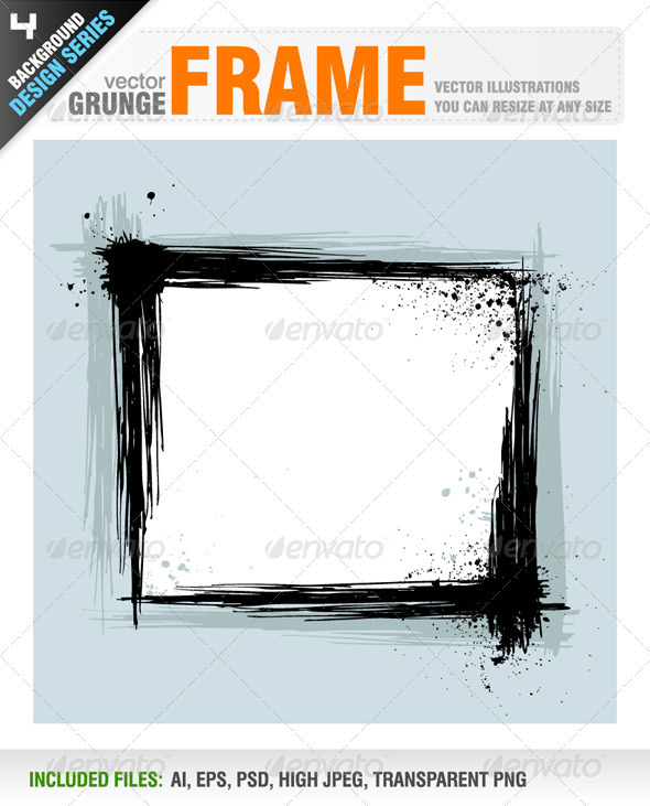 Grunge Frame - Borders Decorative