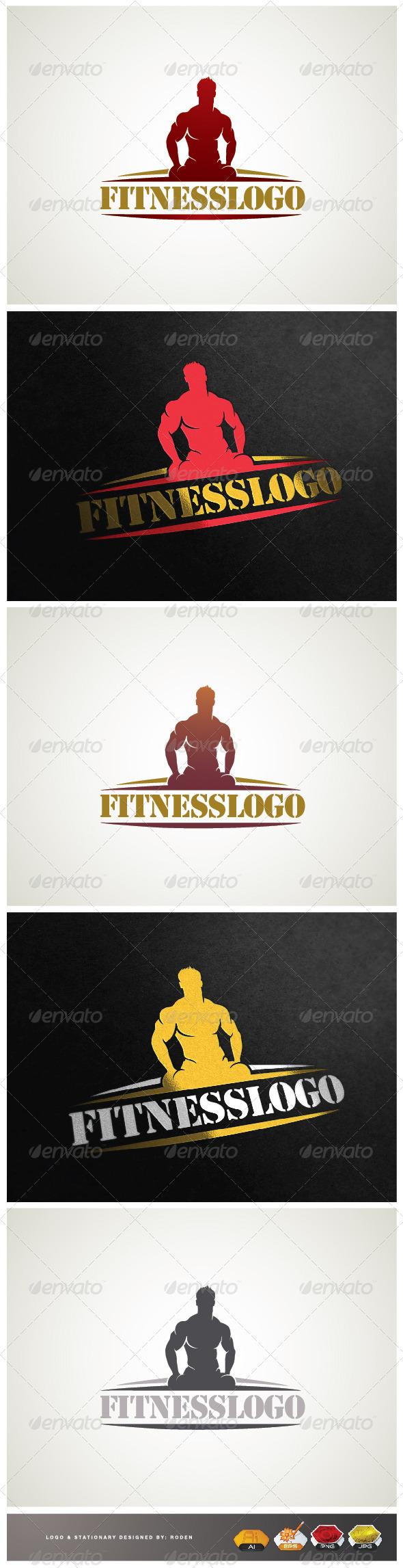 fitness gym - Humans Logo Templates