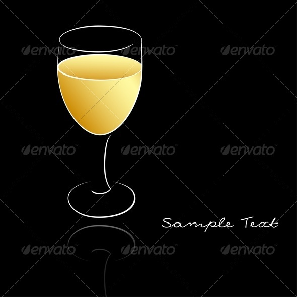 White Wine - Food Objects