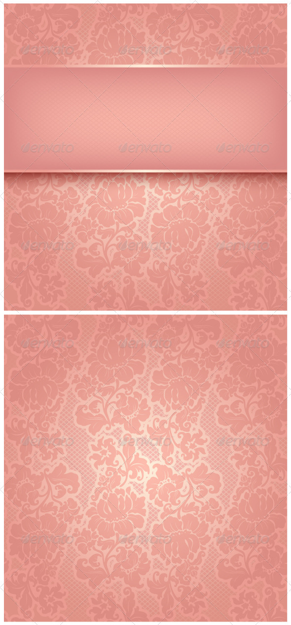 Ornamental Pink Greeting Card - Backgrounds Decorative