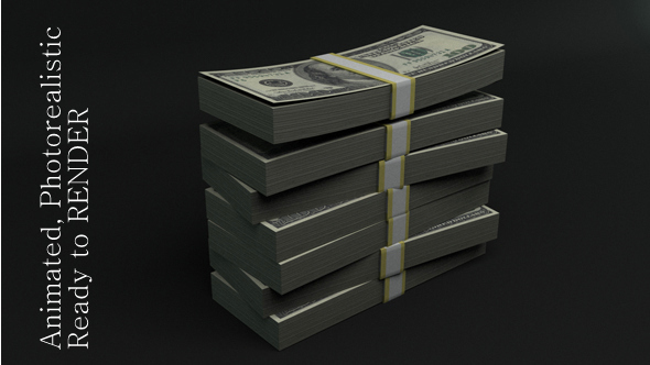 Stack of Dollars - 3DOcean Item for Sale