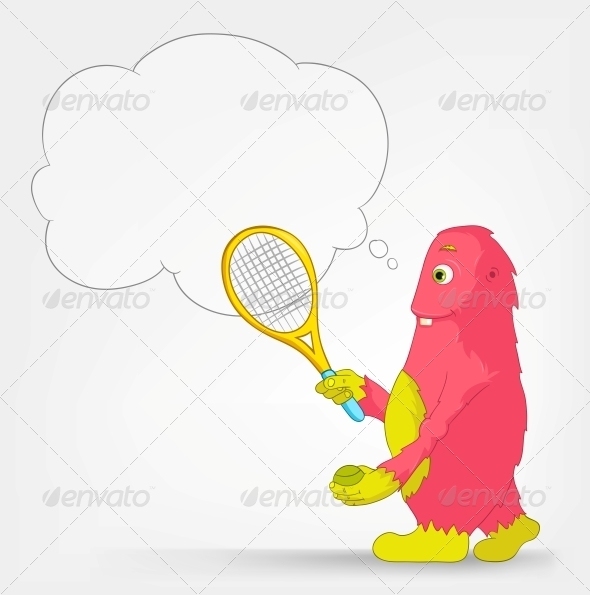 Funny Monster - Tennis - Monsters Characters