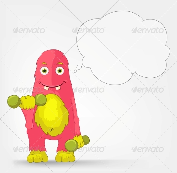 Funny Monster - Gym - Monsters Characters