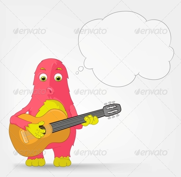 Funny Monster - Guitarist - Monsters Characters