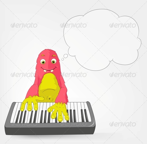 Funny Monster - Pianist - Monsters Characters