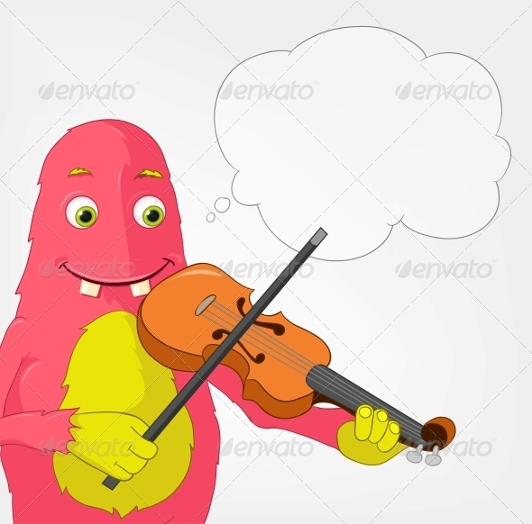 Funny Monster - Violinist - Monsters Characters