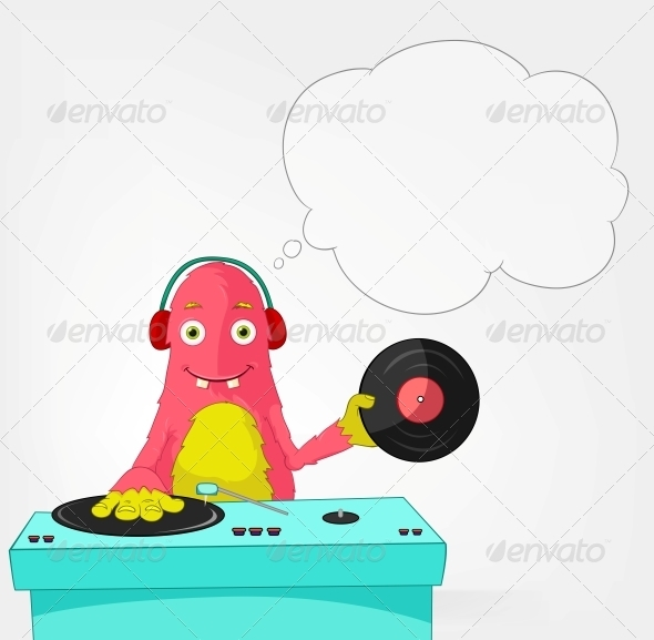 Funny Monster - DJ - Monsters Characters