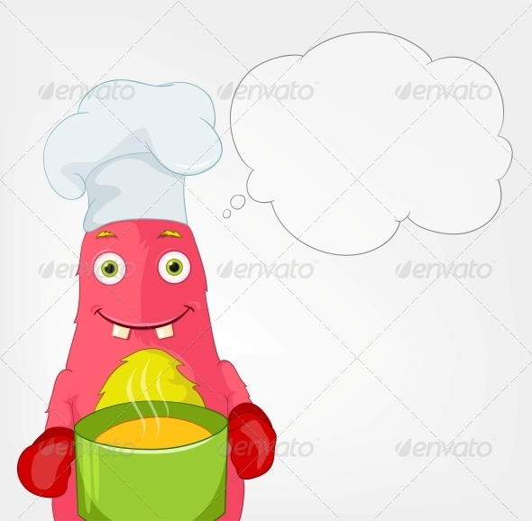 Funny Monster - Chef - Monsters Characters